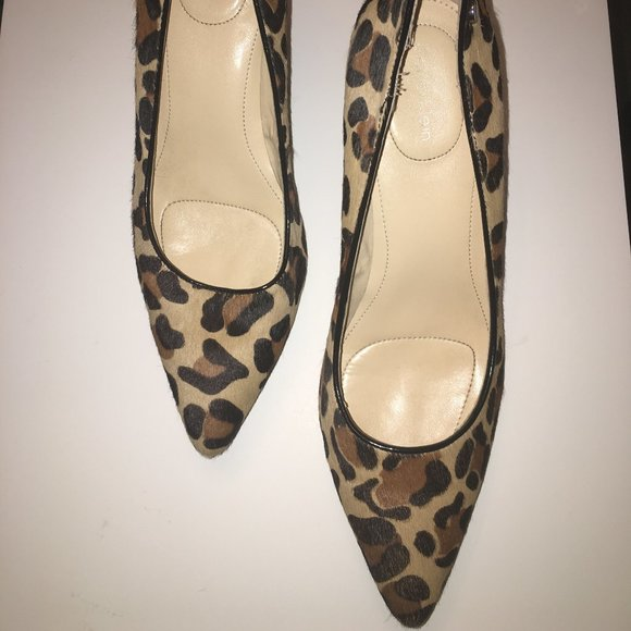 LEOPARD CALVIN KLEIN SMALL HEEL SHOES